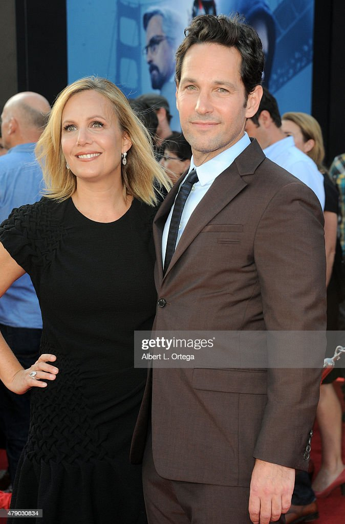 Actor Paul Rudd and wife Julie Yaeger arrive for the Premiere Of Marvel's 'Ant-Man' held at Dolby Theatre on June 29, 2015 in Hollywood, California.