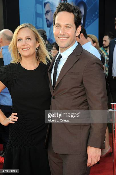 Actor Paul Rudd and wife Julie Yaeger arrive for the Premiere Of Marvel's AntMan held at Dolby Theatre on June 29 2015 in Hollywood California