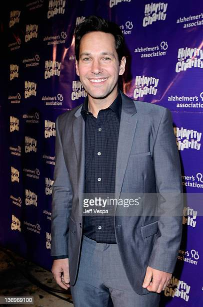 """Actor Paul Rudd arrives at """"Hilarity For Charity"""" To Benefit The Alzheimer's Association at Vibiana on January 13, 2012 in Los Angeles, California."""