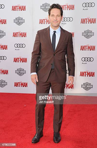 Actor Paul Rudd arrives at the Los Angeles Premiere 'AntMan' at Dolby Theatre on June 29 2015 in Hollywood California