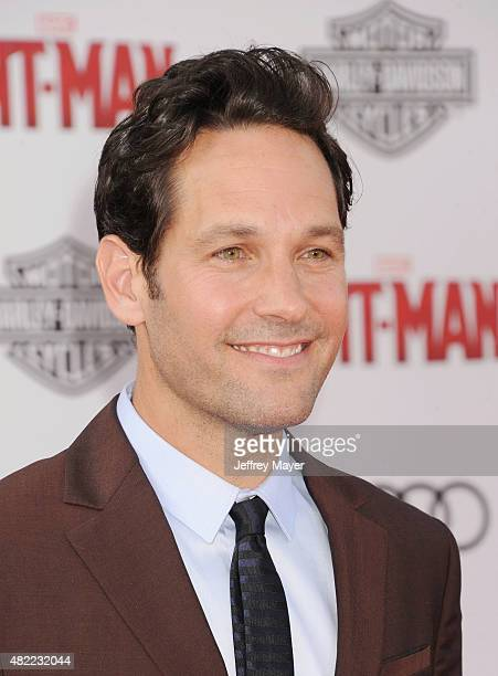 Actor Paul Rudd arrives at the Los Angeles premiere of Marvel Studios 'AntMan' at Dolby Theatre on June 29 2015 in Hollywood California