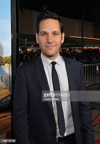"""Actor Paul Rudd arrives at the Los Angeles premiere of """"Wanderlust"""" at Mann Village Theatre on February 16, 2012 in Westwood, California."""