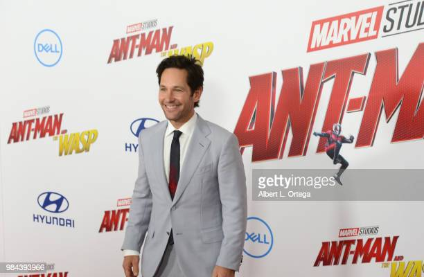 Actor Paul Rudd arrives for the Premiere Of Disney And Marvel's AntMan And The Wasp held at the El Capitan Theater on June 25 2018 in Hollywood...