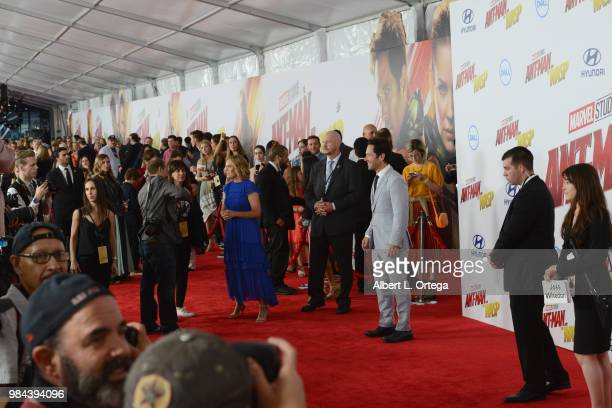 Actor Paul Rudd arrives for the Premiere Of Disney And Marvel's 'AntMan And The Wasp' held at the El Capitan Theater on June 25 2018 in Hollywood...