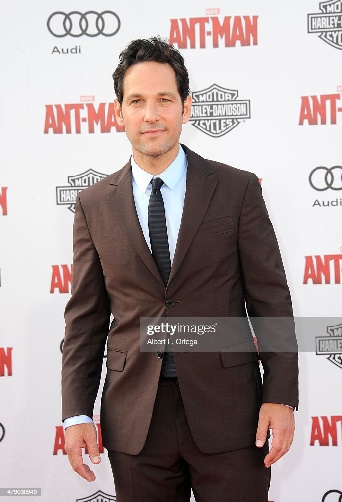 Actor Paul Rudd arrives for the Premiere Of Marvel's 'Ant-Man' held at Dolby Theatre on June 29, 2015 in Hollywood, California.