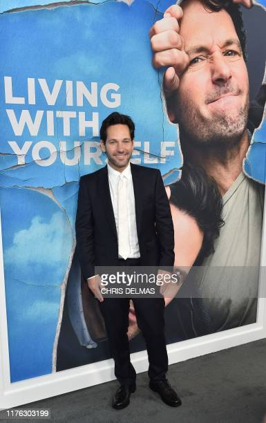 """Actor Paul Rudd arrives for the season one premiere of Netflix's """"Living With Yourself"""" at the Arclight theatre in Hollywood on October 16, 2019."""