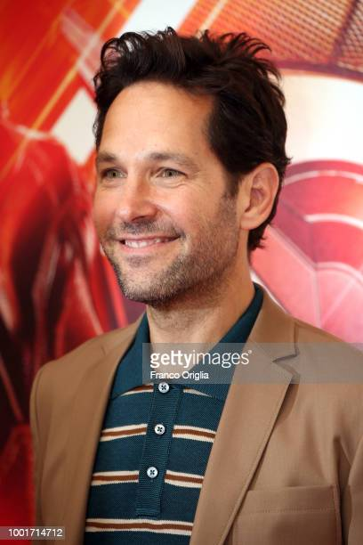 Actor Paul Rudd attends 'AntMan And The Wasp' photocall at The Russie Hotel on July 19 2018 in Rome Italy