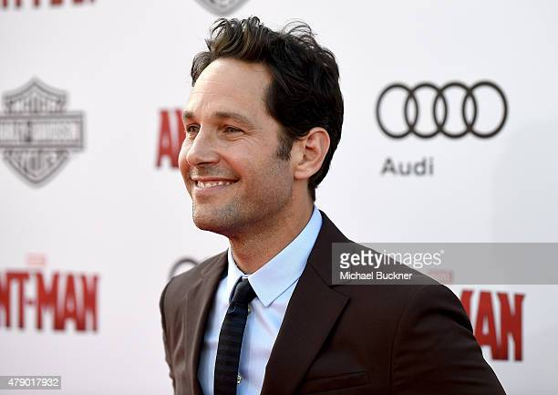 Actor Paul Rudd attends Audi celebrates the world premiere of 'AntMan' at The Dolby Theatre on June 29 2015 in Los Angeles California