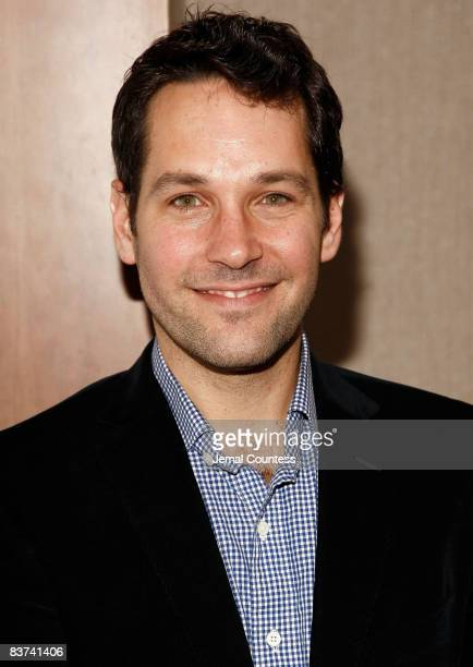 Actor Paul Rudd attends the 2nd Annual Adrienne Shelly Foundation Fundraising Gala at the Skirball Center at New York University on November 17 2008...