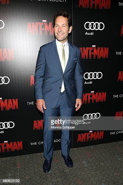 Actor Paul Rudd attends The Cinema Society and Audi host a screening of Marvel's 'AntMan' at SVA Theatre on July 13 2015 in New York City