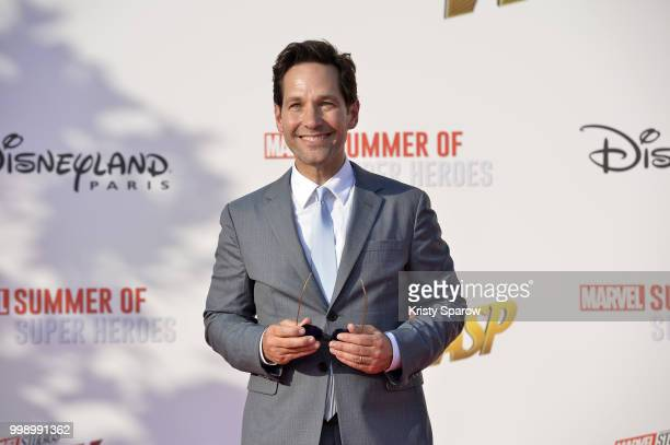 Actor Paul Rudd attends the European Premiere of Marvel Studios 'AntMan And The Wasp' at Disneyland Paris on July 14 2018 in Paris France