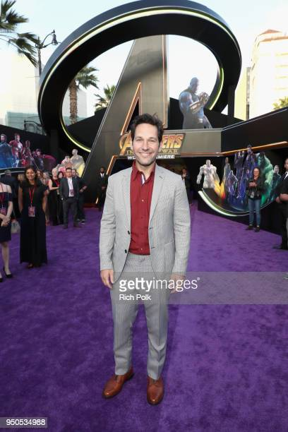 Actor Paul Rudd attends the Los Angeles Global Premiere for Marvel Studios' Avengers Infinity War on April 23 2018 in Hollywood California
