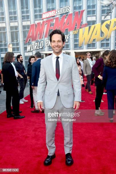 Actor Paul Rudd attends the Los Angeles Global Premiere for Marvel Studios' 'AntMan And The Wasp' at the El Capitan Theatre on June 25 2018 in...