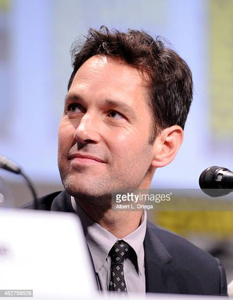 Actor Paul Rudd attends the Marvel Studios panel during ComicCon International 2014 at San Diego Convention Center on July 26 2014 in San Diego...