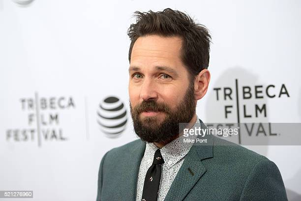 Actor Paul Rudd attends the Nerdland premiere during the 2016 Tribeca Film Festival at SVA Theatre on April 14 2016 in New York City