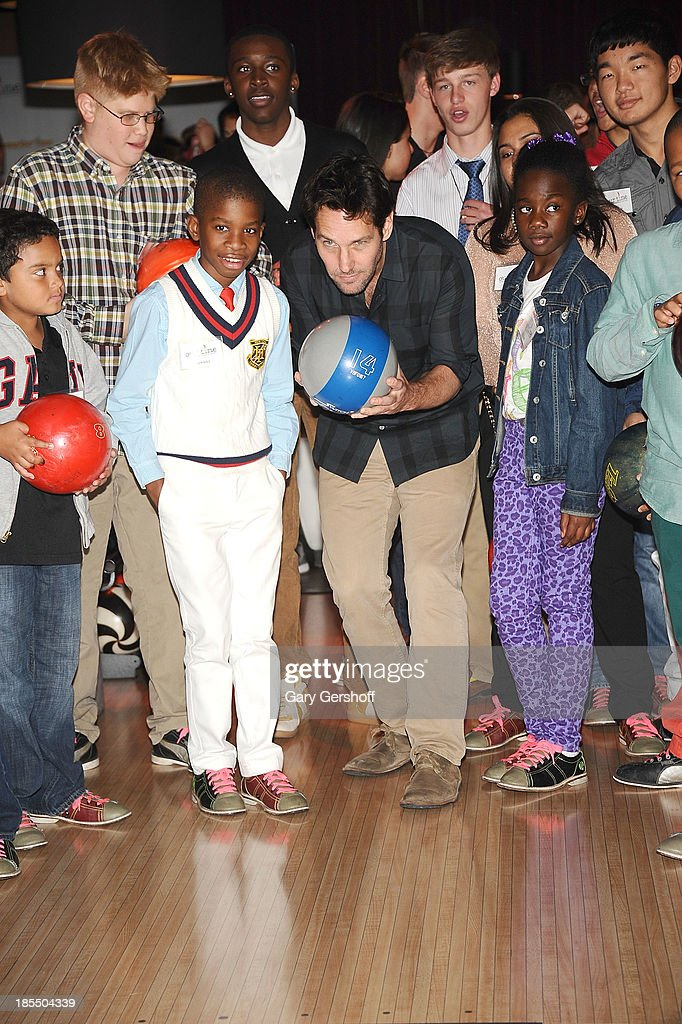 Actor Paul Rudd attends the Paul Rudd 2nd Annual All-Star Bowling Benefit supporting Our Time at Lucky Strike on October 21, 2013 in New York City.