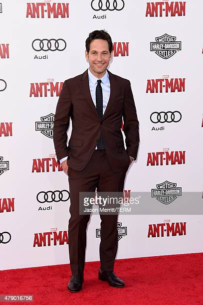 Actor Paul Rudd attends the premiere of Marvel's AntMan at the Dolby Theatre on June 29 2015 in Hollywood California