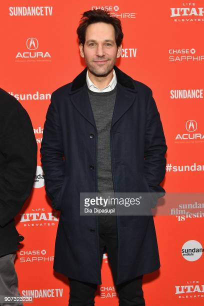 Actor Paul Rudd attends the 'The Catcher Was A Spy' Premiere during the 2018 Sundance Film Festival at The Marc Theatre on January 19 2018 in Park...