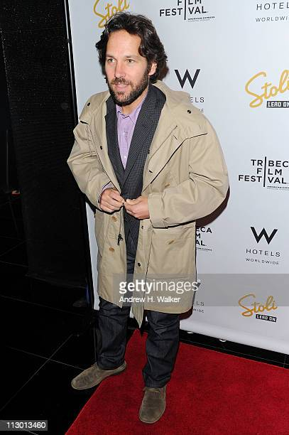 Actor Paul Rudd attends the Tribeca Film Festival afterparty for The Good Doctor hosted by Stolichnaya Vodka at The W Hotel New YorkDowntown's Living...