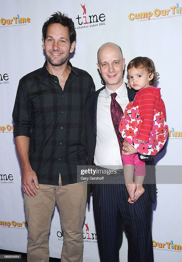 Actor Paul Rudd, Founder/Director of Our Time, Taro Alexander and daughter Hazel attend the Paul Rudd 2nd Annual All-Star Bowling Benefit supporting Our Time at Lucky Strike on October 21, 2013 in New York City.