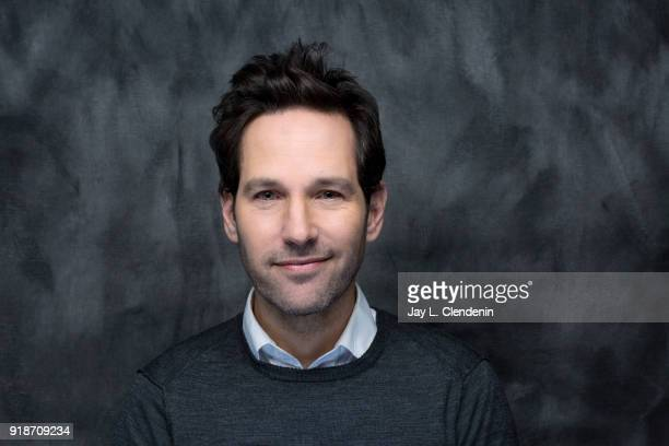 Actor Paul Rudd from the film 'The Catcher Was a Spy' is photographed for Los Angeles Times on January 19 2018 in the LA Times Studio at Chase...