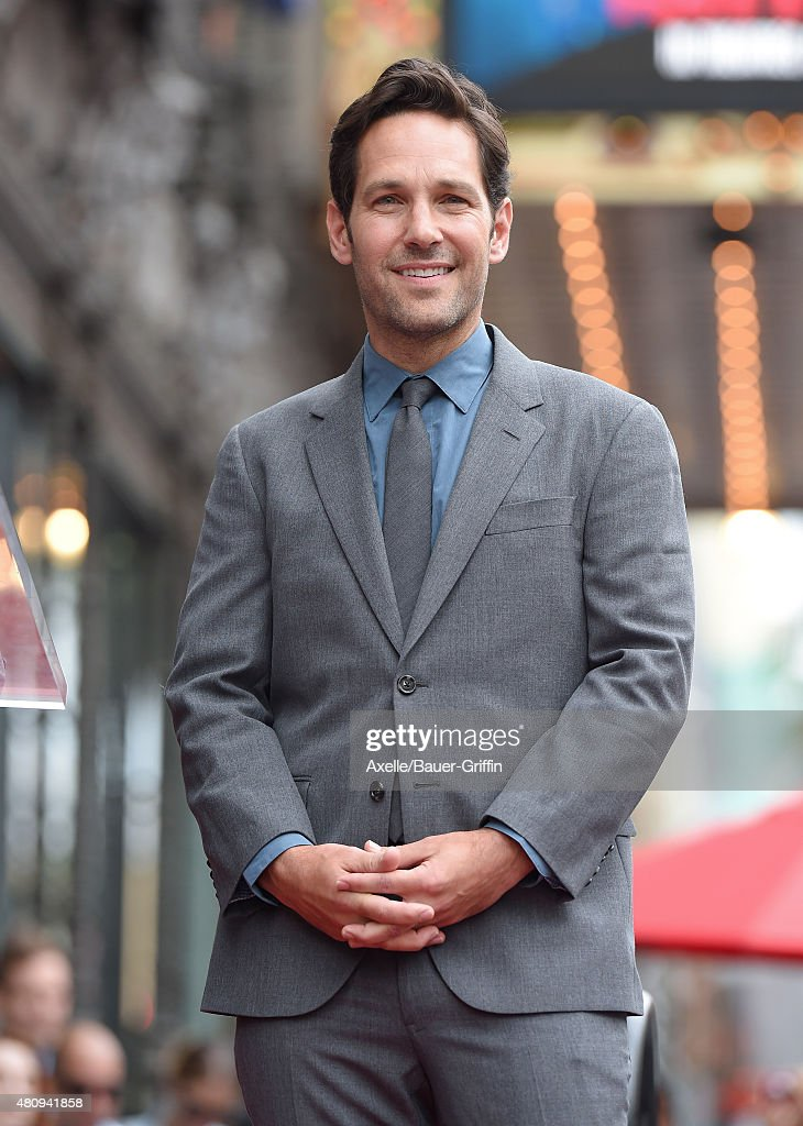 Actor Paul Rudd is honored with a star on the Hollywood Walk of Fame on July 1, 2015 in Hollywood, California.