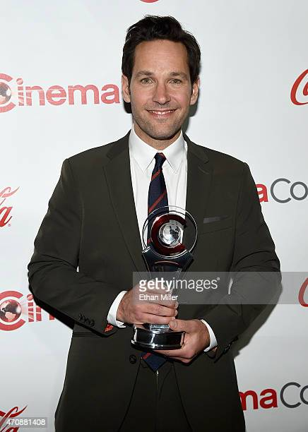 Actor Paul Rudd recipient of the Male Star of the Year Award attends The CinemaCon Big Screen Achievement Awards Brought to you by The CocaCola...