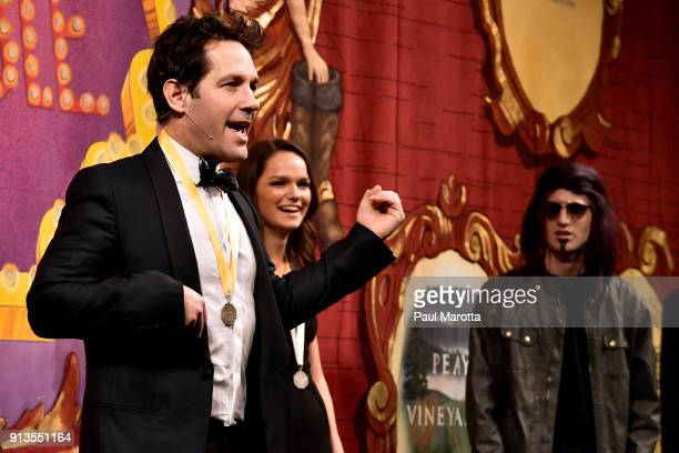 Actor Paul Rudd speaks onstage during Hasty Pudding Theatricals Honors Paul Rudd as 2018 Man of The Year on February 2 2018 in Cambridge Massachusetts