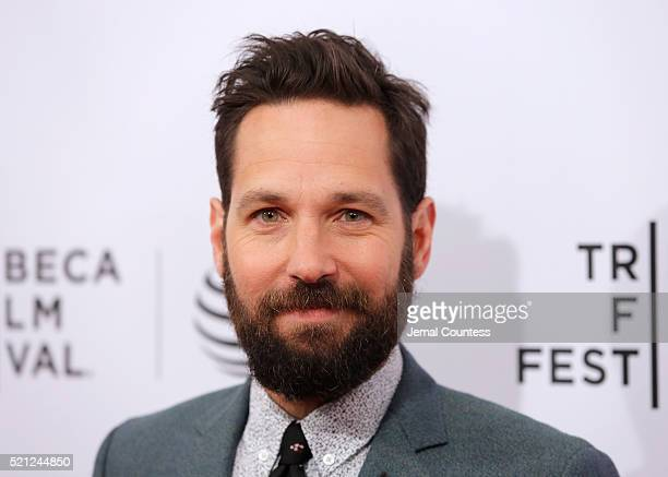 Actor Paul Rudd speaks to the media at the 'Nerdland' Premiere during the 2016 Tribeca Film Festival at SVA Theatre on April 14 2016 in New York City