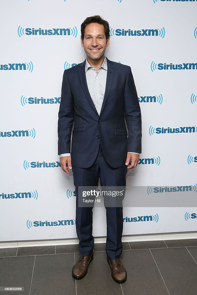 Actor Paul Rudd visits the SiriusXM Studios on July 14, 2015 in New York City.
