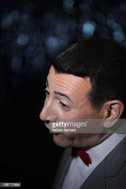 Actor Paul Ruebens in character as 'PeeWee Herman' attends the Broadway opening night after party of The PeeWee Herman Show at Bryant Park Grill on...