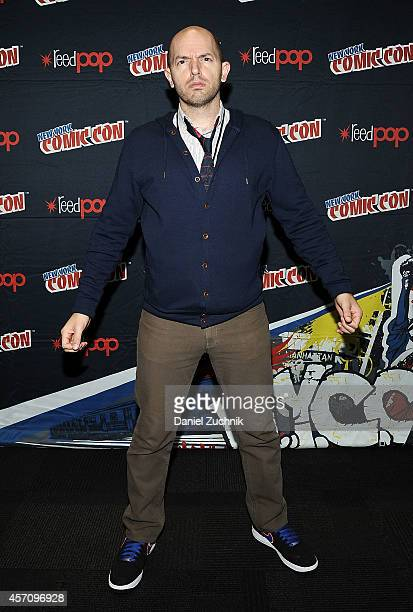 Actor Paul Scheer attends The League press room at 2014 New York Comic Con Day 3 at Jacob Javitz Center on October 11 2014 in New York City