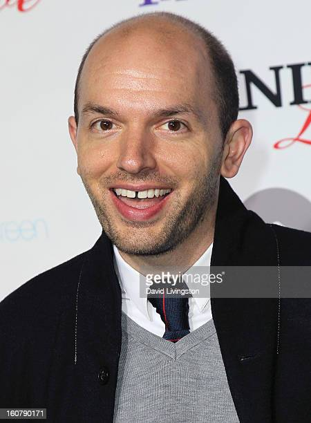 Actor Paul Scheer attends the premiere of Burning Love Season 2 at the Paramount Theater on the Paramount Studios lot on February 5 2013 in Hollywood...