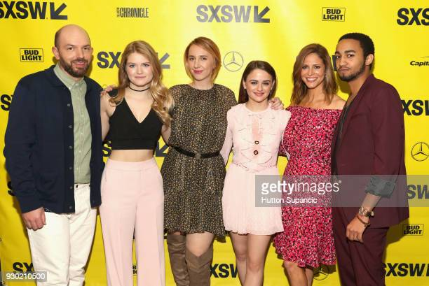 Actor Paul Scheer Kelly Lamor Wilson director Becca Gleason actors Joey King Andrea Savage and Stephen Ruffin attend the premiere of 'Summer '03'...