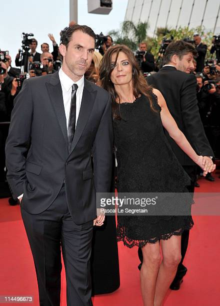 Actor Paul Schneider and Chiara Mastroianni attend the 'Les BienAimes' premiere at the Palais des Festivals during the 64th Cannes Film Festival on...