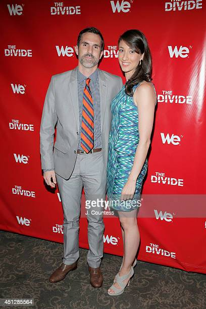 Actor Paul Schneider and guest attend 'The Divide' series premiere at Dolby 88 Theater on June 26 2014 in New York City
