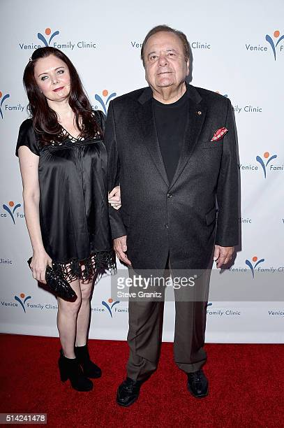 Actor Paul Sorvino and Amanda Sorvino attend the Venice Family Clinic Silver Circle Gala 2016 honoring Brett Ratner and Bill Flumenbaum at The...