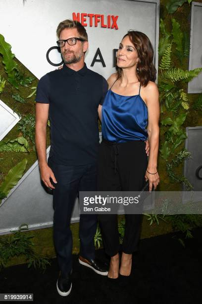 Actor Paul Sparks and actress Annie Parisse attend the Netflix Original 'Ozark' New York Screening at The Metrograph on July 20 2017 in New York City