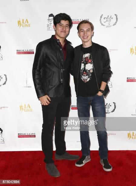 Actor Paul Stevens and Hayden Byerly at LA Live Film Fest at Regal Cinemas LA Live on November 11 2017 in Los Angeles California