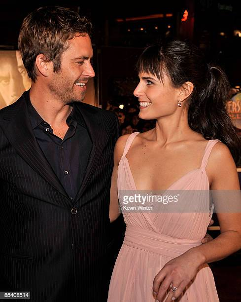 Actor Paul Walker and actress Jordana Brewster arrive at the premiere Universal's Fast Furious held at Universal CityWalk Theaters on March 12 2009...