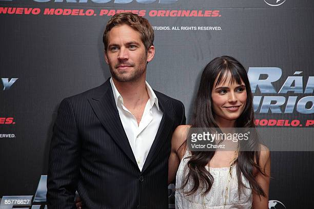 Actor Paul Walker and actress Jordana Brewster attends the Fast Furious photo call at the Marriot Hotel on March 27 2009 in Mexico City