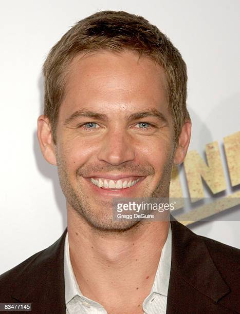 Actor Paul Walker arrives at the Never Back Down premiere at the Cinerama Dome on March 4 2008 in Hollywood California