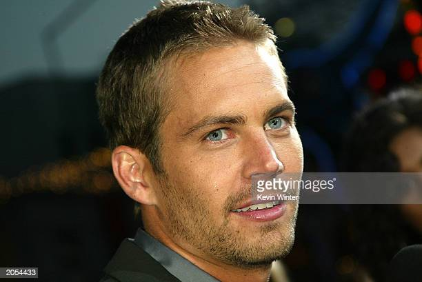 Actor Paul Walker arrives at the premiere of 2 Fast 2 Furious at the Universal Amphitheatre on June 3 2003 in Los Angeles California