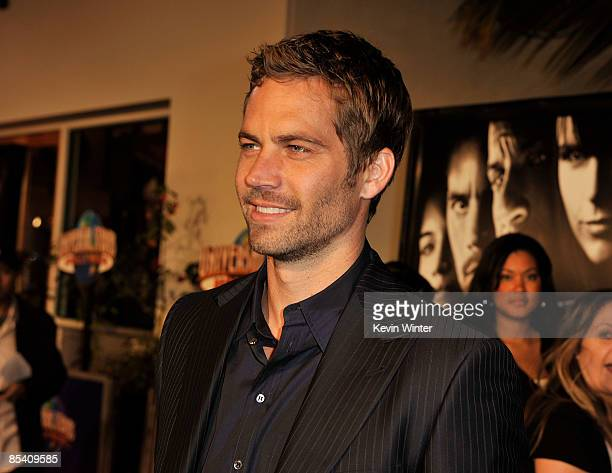 Actor Paul Walker arrives at the premiere Universal's Fast Furious held at Universal CityWalk Theaters on March 12 2009 in Universal City California