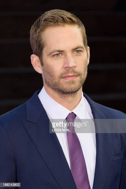 US actor Paul Walker arrives at the world premiere of 'Fast and Furious 6' at the Empire cinema in Leicester Square in central London on May 7 2013...