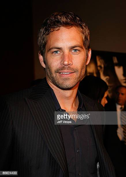 Actor Paul Walker arrives on the red carpet of the Los Angeles premiere of 'Fast Furious' held at the Gibson Amphitheatre on March 12 2009 in...