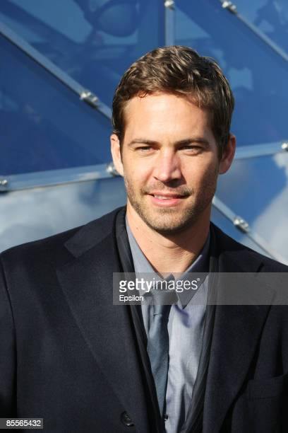 Actor Paul Walker attends a photocall for the film Fast Furious on March 23 2009 in Moscow Russia