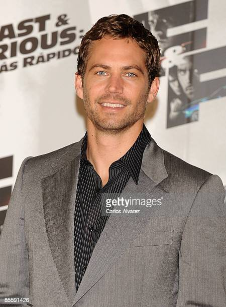 Actor Paul Walker attends Fast and Furious photocall at the Santo Mauro Hotel on March 25 2009 in Madrid Spain