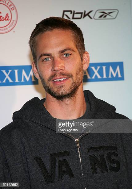Actor Paul Walker attends Maximony Maxim's 2005 Super Bowl Party on February 5 2005 in Jacksonville Florida