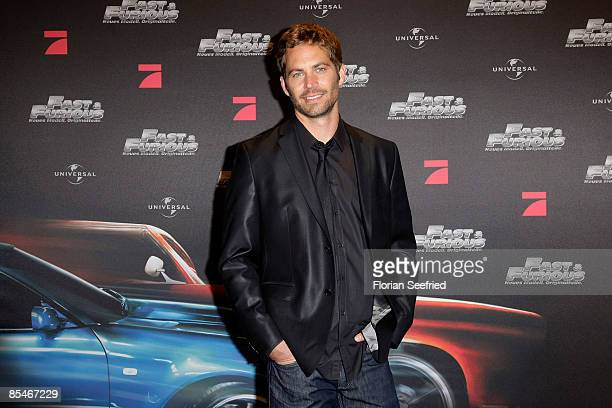 Actor Paul Walker attends the europe premiere of 'The Fast and the Furious 4' at UCI cinema world at Ruhrpark on March 17 2009 in Bochum Germany